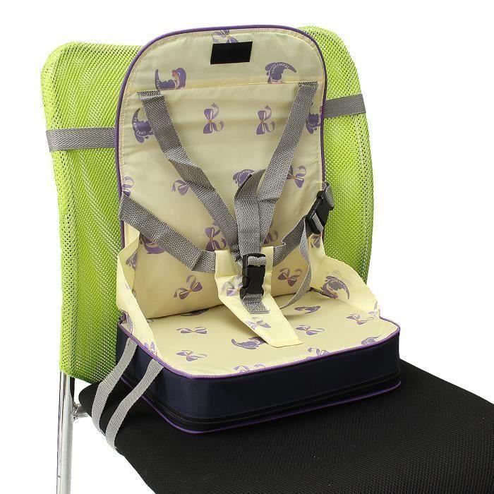 Réhausseur Siège de Table Bébé Enfant Repas Portable Pliable-Juane