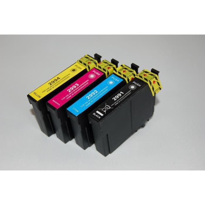 Epson T299 Pack de 4 Cartouches compatibles Pour imprimantes jet d'encre Epson Expression Home Xp 235, Xp 330, Xp 332, Xp 335