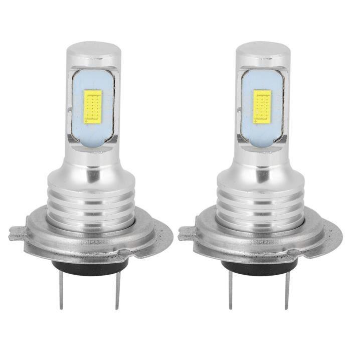 ZJCHAO Ampoule LED antibrouillard 2Pcs 80W 6000K H7 LED Feux de Brouillard de Voiture Lampe Blanc Universel 12-24V
