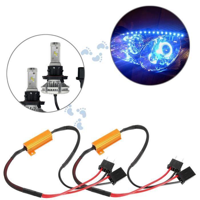 YOSOO Décodeur de Phare 2pcs Décodeur LED de Voiture pour H7 Phare sans Erreur Câblage de Résistance de Charge