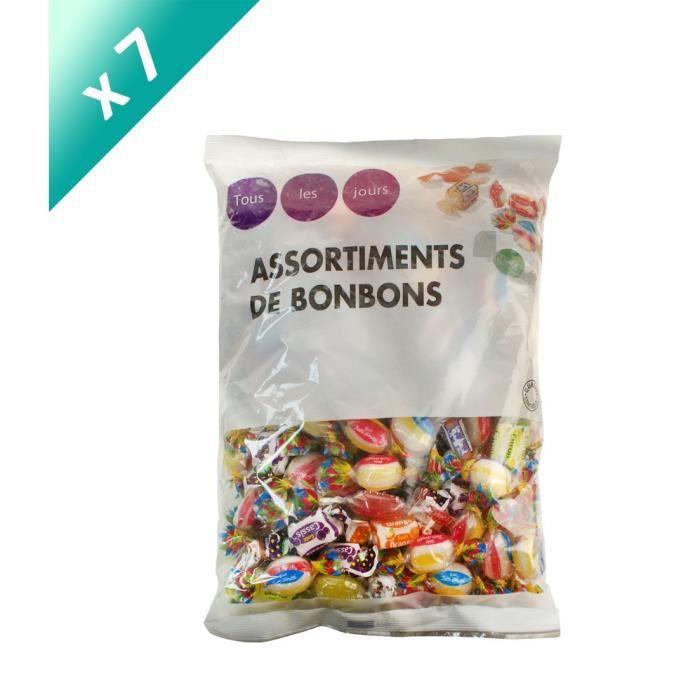 [LOT DE 7] TOUS LES JOURS Assortiments de bonbons - 720 g