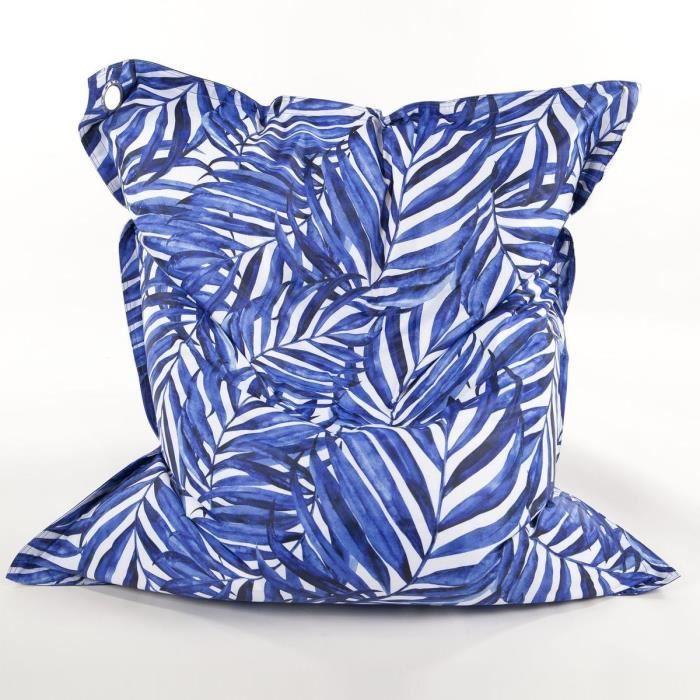 COTTON WOOD Maxi Coussin imprimé - 110 x 130 cm - Blue Palm