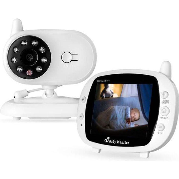 BabyPhone vidéo Sans fil Multifonctions 3.5 pouces Caméra LCD Couleur Vidéo sans fil bébé