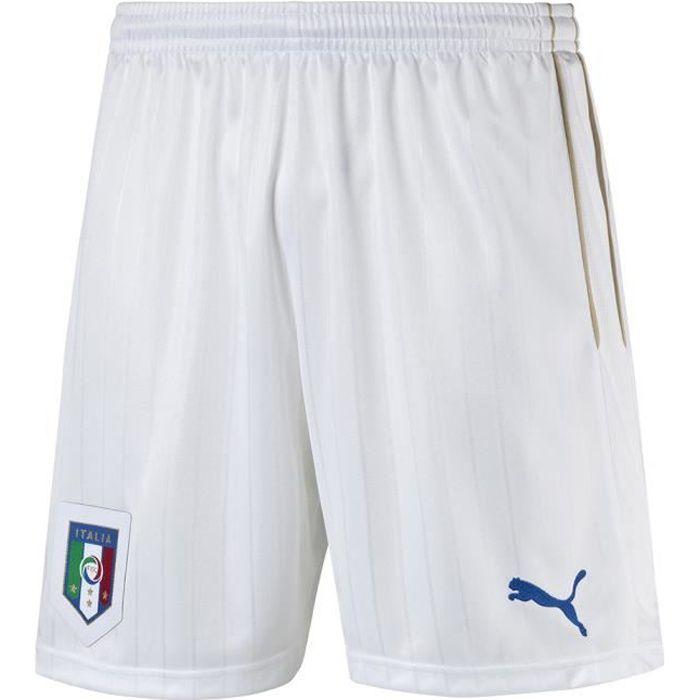 PUMA Short de Foot homme Italie Domicile - Blanc