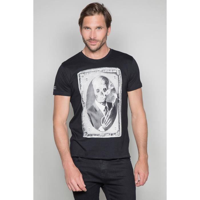 STRIPHTML(T-shirt photo tête de mort DENIL - Couleur - Black, Taille - S)