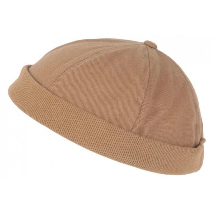 Bonnet Docker Marron en Coton Homme et Femme Mode Hodok - Taille unique - Marron
