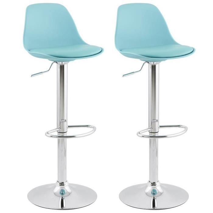 ho lot de 2 tabouret de bar bleu avec dossier achat vente tabouret de bar cdiscount. Black Bedroom Furniture Sets. Home Design Ideas