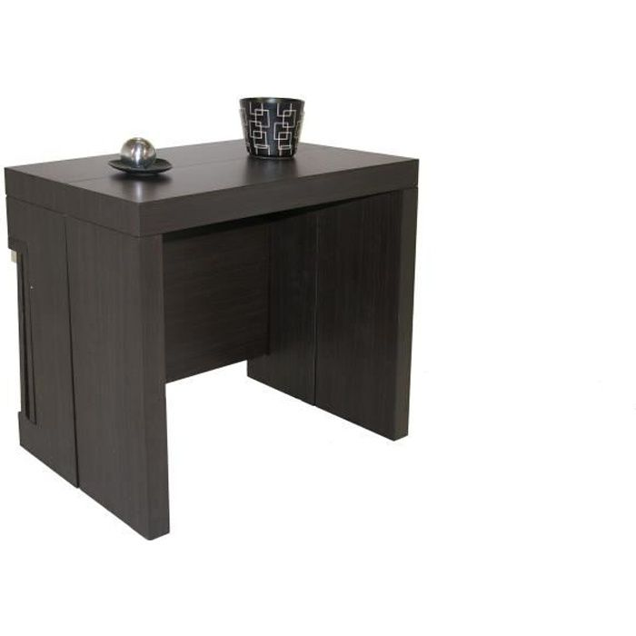 Console Extensible A Allonges Integrees Milano Wenge Achat Vente