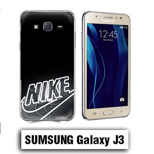 Coque Samsung Galaxy J3 2016 Nike Noir logo