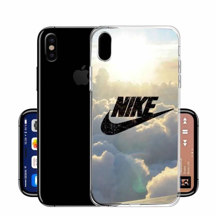 Coque Pour Apple iPhone X - iPhone 10 Sky Nike Des