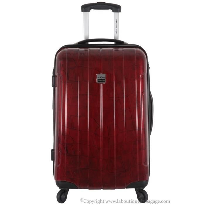 france bag valise rigide moyen s jour cancun bordeaux crocodile rouge achat vente valise. Black Bedroom Furniture Sets. Home Design Ideas