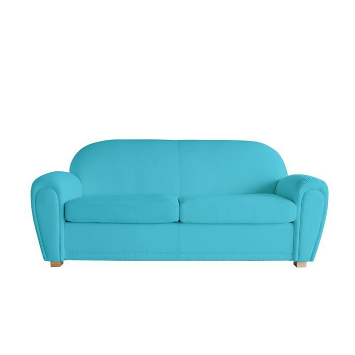 canap club cuir bleu turquoise 3 places new club achat. Black Bedroom Furniture Sets. Home Design Ideas