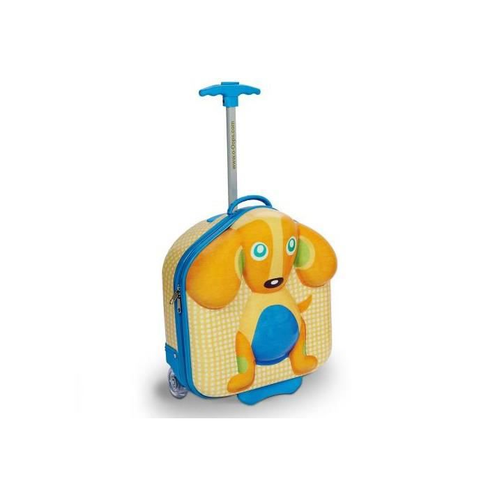 VALISE - BAGAGE Happy trolley - Chien - valise trolley 3D
