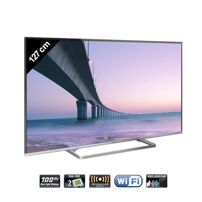 panasonic tx 50as600e tv led connect e 127 cm t l viseur led prix pas cher cdiscount. Black Bedroom Furniture Sets. Home Design Ideas