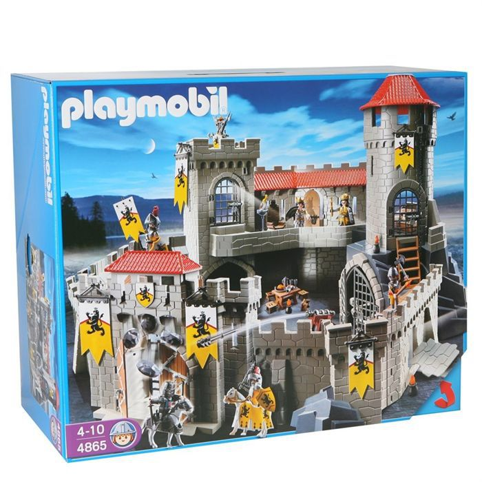 playmobil 4865 ch teau fort des chevaliers du lion achat. Black Bedroom Furniture Sets. Home Design Ideas