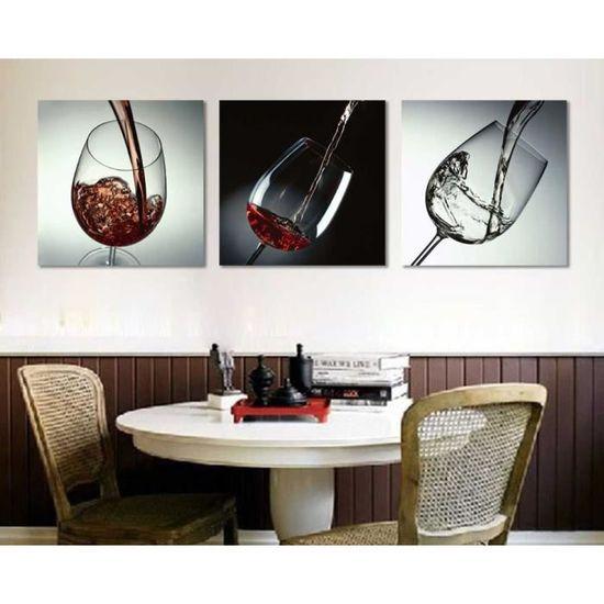 Pas De Cadre Cuisine Moderne Toile Peintures Rouge Vin Cup