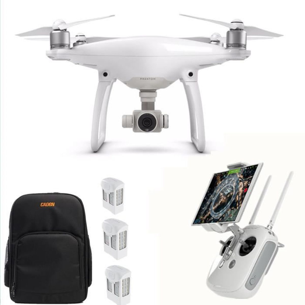 dji phantom 4 quadricopt re drone avec camera 2 batterie. Black Bedroom Furniture Sets. Home Design Ideas