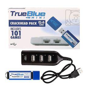 ADAPTATEUR MANETTE True Blue Mini Pack Craquelé 64 Go Intégré 101 Jeu