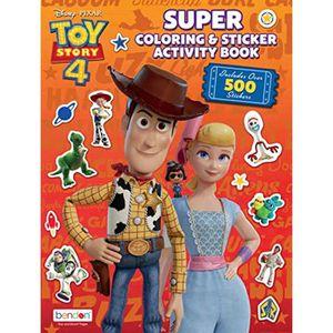 LIVRE DE COLORIAGE Jeu De Coloriage SP4AS Toy Story 4 Activité géant