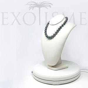 Véritable Naturel Noir 5 mm Tahitian Pearl Boucles D/'oreilles excellente qualité 4-07