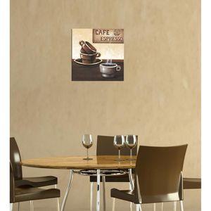 """TABLEAU - TOILE Bilderdepot24 """"café M4""""  tableau toile 30x30 cm…"""