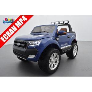 VOITURE ELECTRIQUE ENFANT Ford Ranger 2 x 12V Bleu Cyclone métallisé avec té