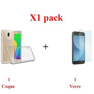 ACCESSOIRES SMARTPHONE X1 Pack, Pack film+coque samsung j5 2017 Pose faci