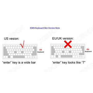 CLAVIER D'ORDINATEUR Skin XSKN Ultra Fine en TPU Transparent Clavier pe