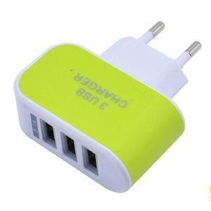 CHARGEUR TÉLÉPHONE Chargeur USB Secteur 3 Ports Universel, Adaptateur