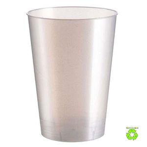VERRE JETABLE 20 Gobelets plastique blanc perlé 20 cl