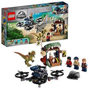 ASSEMBLAGE CONSTRUCTION LEGO®-Jurassic WorldTM Dilophosaure en liberté Jou