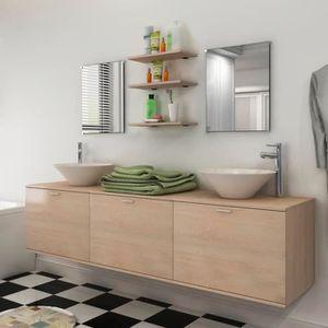 SALLE DE BAIN COMPLETE 8 pièces de mobilier de salle de bain et lavabo Be