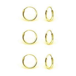 14K Véritable or Blanc 1.5 mm d/'épaisseur Diamant Coupe charnière petites boucles d/'oreilles Créoles Enfants
