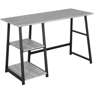BUREAU  WOLTU Bureau d'ordinateur avec 2 étagère,Table de