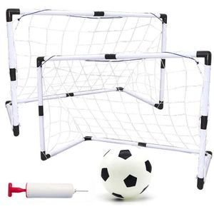 CAGE DE FOOTBALL 2 Ensemble de But de Foot avec Un Mini Football Po