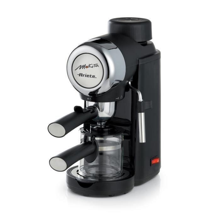Ariete 1340, Autonome, Cafetière moka électrique, Café moulu, 800 W, Noir