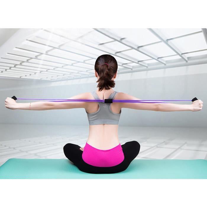 【ELASTIQUE DE RESISTANCE】Bande élastique corde Latex caoutchouc bras résistance Fitness exercice Pilates Yoga Gym - Violet41