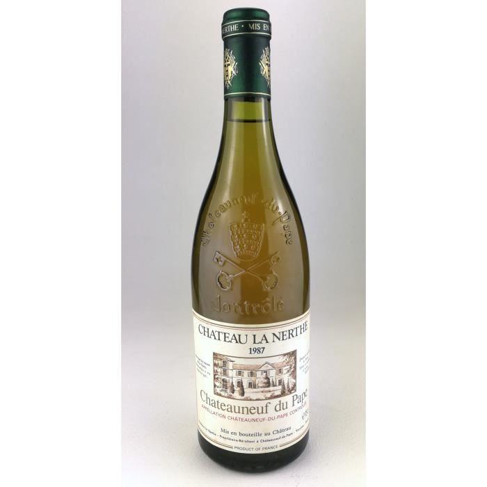 1987 - Chateau la Nerthe blanc - Chateauneuf du Pape (Bouteille 02)