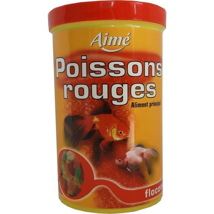 AIME Nourriture pour poissons rouges - Aliment complet en flocons - 1 L