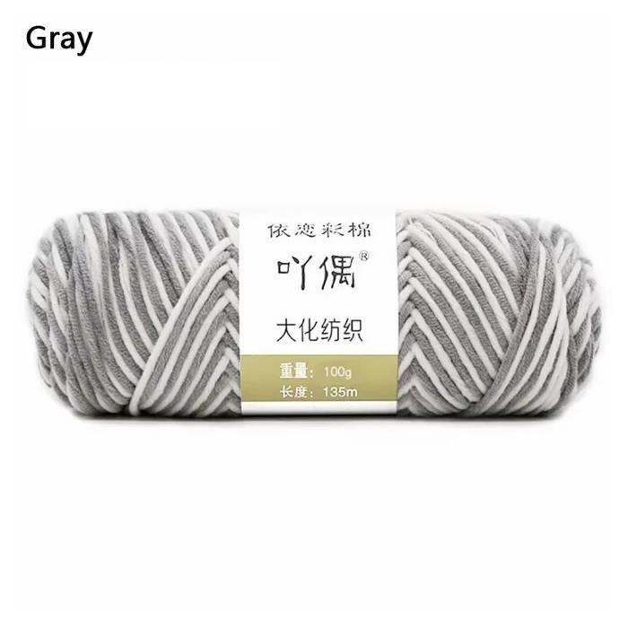 100g barre de fil de coton de lait couture main bricolage écharpe ligne ménage chaud ti535