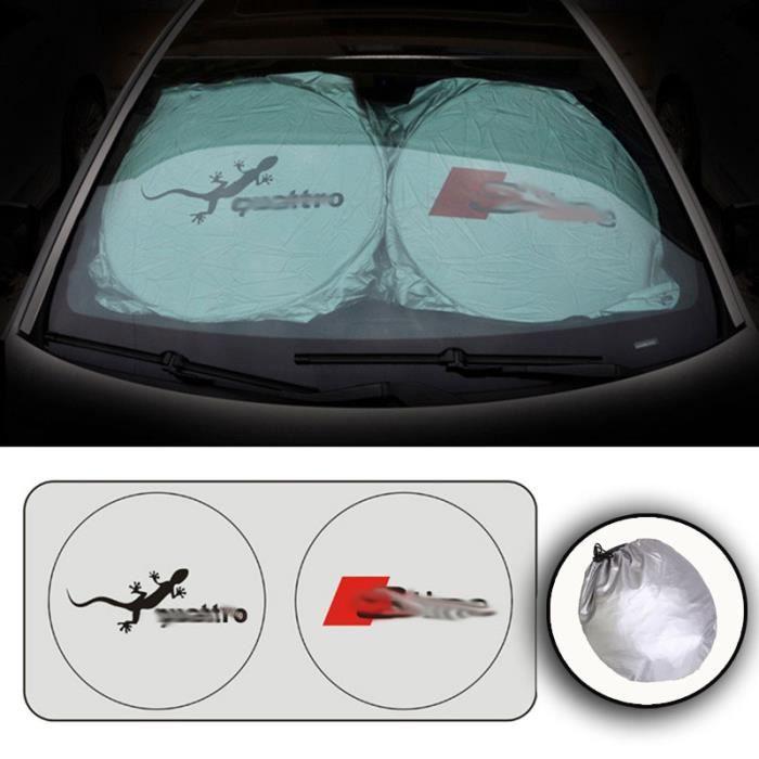 Pare-soleil pour Audi A3 A4 B4 A5 A6 A7 B6 Sline - Film pliable pour vitre et voiture, protection c - Modèle: Argent - ANZYBUA06178