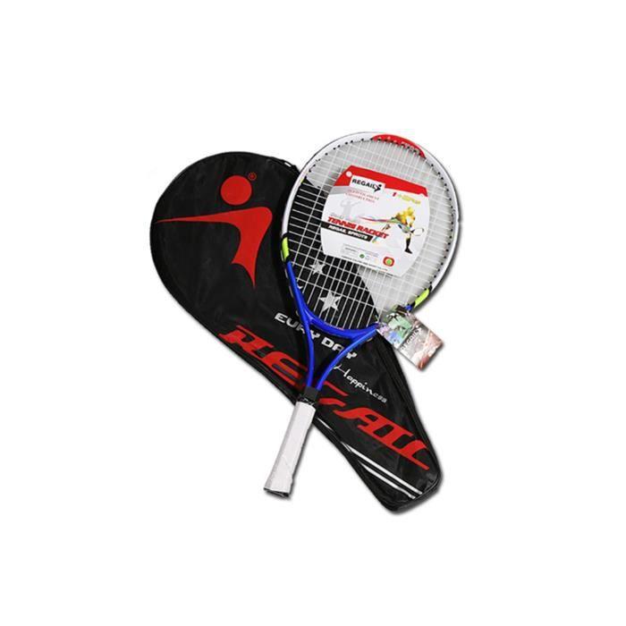 Raquette de tennis pour l'entraînement et la pratique, raquette pour enfants 2pcs bleu