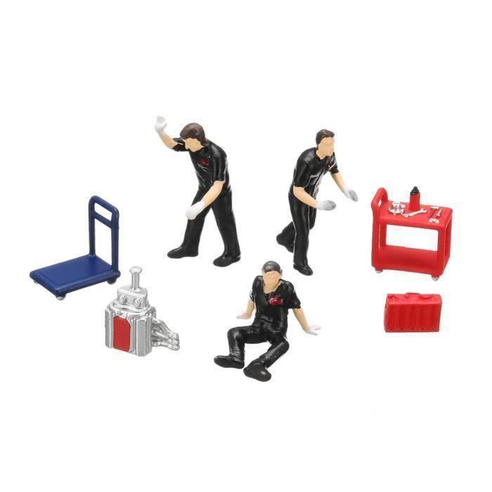 7PCS 1:64 Modèle De Personnage Monde Miniature Pour Matchbox Tomy Noir