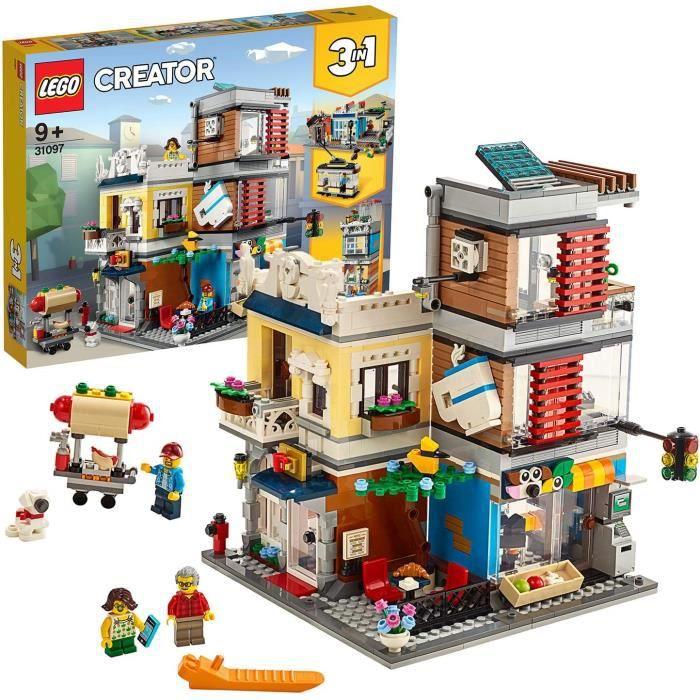 LEGO®-Creator L'animalerie et le café Garçon et Fille 9 Ans et Plus, Jeu de Création, 969 Pièces 31097