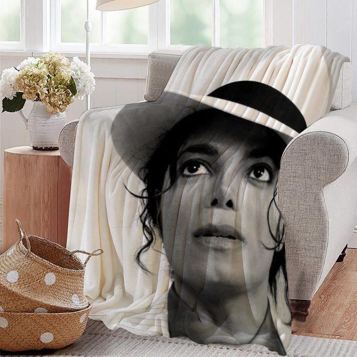 Blanket–Couverture en flanelle,Michael Jackson dance superstar music singer(20),-Couverture moelleuse pour canapé,lit,chaise 153 X12