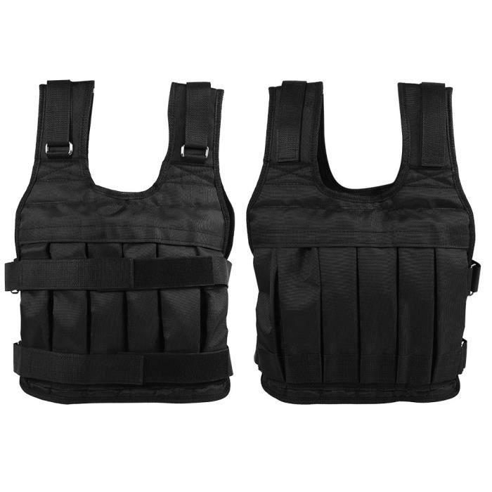 Veste de musculation Veste Lourd de Sable Réglable Vêtement Lesté 50KG pour Crossfit Entraînement Exercice de Force