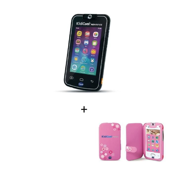 VTECH - KidiCom Advance noir + KidiCom Etui de protection rose