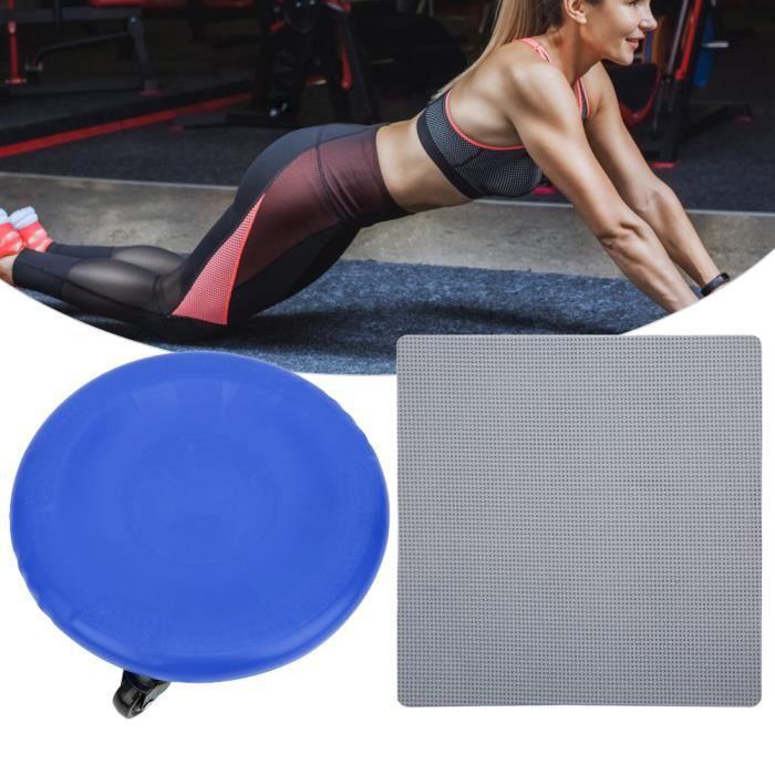 Plaque de muscle abdominal à 4 roues Exerciseur Abdominal Plaque à 4 Roues Disque Coulissant Équipement -CET