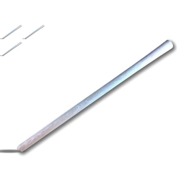 Manche pioche spécial travaux - Bois de hêtre - Dimensions : Longueur de 90 cm, ⌀ de 35 mm - ⌀ de l œil 47,5 mm - 29140x3