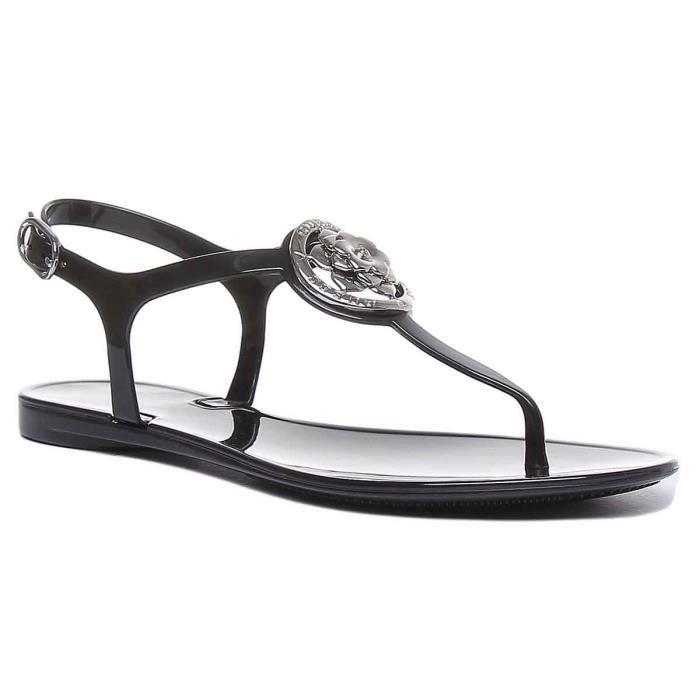 Guess Jazz sandale à lanière noire pour femmes